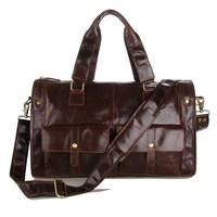 J .m .d Cowhide leather men travel package vintage man bags genuine leather luggage travel bag shoulder tote man bag 7213c