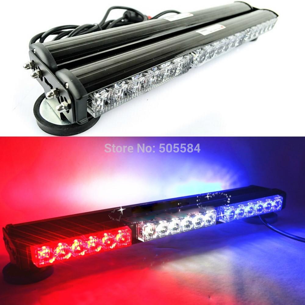 108W Car Strobe Light bar 36 LED Flash Warning light Police vehicle EMS lights for truck emergency Fog light DC 12V Dual-sided(China (Mainland))