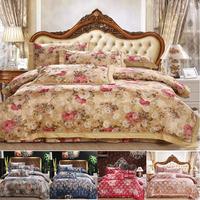 Luxurious bedding sets,Elegant European style bedding,color Satin Embroidery,silk/cotton Oil painting romantic princess bedding