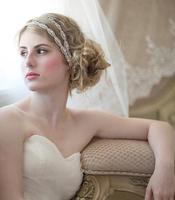 Newest Free shipping 2014 Hot Promo handmade double layer rhinestone bridal headbands LUXURY wedding jewelery H86