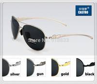 2014Leopard Frame Design Polarized Men's Sunglasses Driver Mirror Driving Male Fishing Outdoor Sports Man Aviator Alloy Eyewears