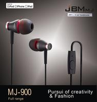 New JBMMJ MJ900 In-Ear HD Music Headphone Earphone For pod MP3 MP4 Phone Black+Bag P0008732 Free Shipping