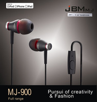 New JBMMJ MJ900 In-Ear HD Music Headphone Earphone For pod MP3 MP4 Phone Black+Bag P0008732 Free Shipping
