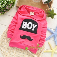 Spring and Autumn fashion casual children boys BOY letter pattern ,Kids Hoodie,V1273
