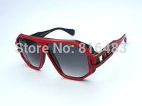 New fashion designer brand Cazal 163 men women sunglasses trend square vintange glasses vogue eyewear 2cols popular best quality