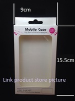 100pcs 15.5cm X9cm X1.5cm Retail package small blister for ipone 6 5s 4s samsung sony Phone case shell packaging blister box