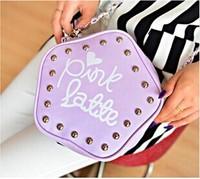 One shoulder chain rivet his parcel fashionable ladies handbags pentagram
