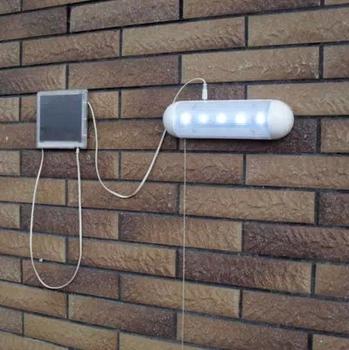 Solar powered garden shed lights