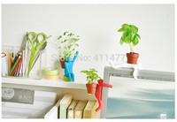 New Creativity Novelty Silicone Mini Iron Men Desktop Planting, Pot Men Planting Free Shipping