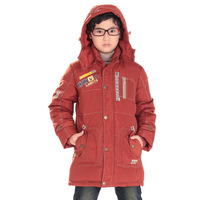 coat medium-long down clothing child casual male child down coat outerwear