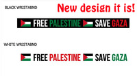 White and black Free shipping Palestine bracelet