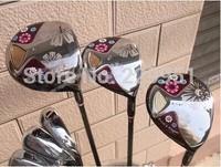 Women's golf set , golf clubs, golf driver,3Woods+8irons+1Putter (NO bag) HeadCover Graphite/shaft