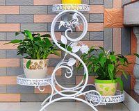 Wrought iron flower Flowerpot wearing