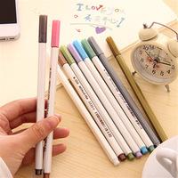 10 color Water Chalk Pen Watercolor Pens for Scrapbooking Photo album Marker Gel Pen Stationery