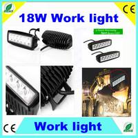 18W 6X3W Slim LED Work Light Spot Beam ATV 4X4 Off-Road Light Lamp,IP67 Fog driving Bar 4WD truck Car Cree LED Off Road Lighting