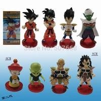 Dragonball Dragon Ball Z Lot 7cm Action Figure Goku Son Gokou Set of 8pcs Hot retail