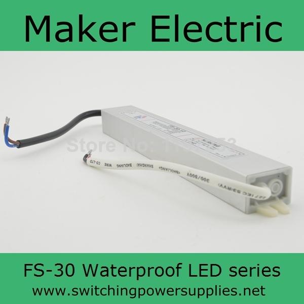 good IP67 Waterproof outdoor power supply 12v led lamp FS-30-12 2.5A(China (Mainland))