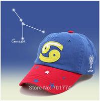 2014 New Fashion Cotton Spring Summer Sport Sun-shading Snapback Hat for Womens Girls Adjustable CANCER Zodiac Baseball Cap
