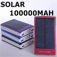 Free ups/fedex Solar Power Bank 100000mah Portable Solar Battery 100,000mah Hot sale Charging Battery for all phones Tablet PC