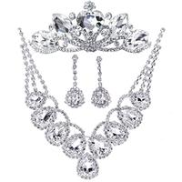 honey big rhinestone wedding dress accessories set marriage jewelry necklace set