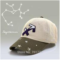 2014 New Fashion Cotton Spring Summer Sport Sun-shading Snapback Hat for Womens Girls Adjustable SAGITTARIUS Zodiac Baseball Cap