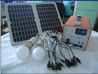 Protable Compact Solar Power System Charger,Solar Charge System For Home Use,Solar Panel 12w,Battery 7ah
