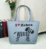 Women's one shoulder canvas bag handbag bag female pocket shopping bag