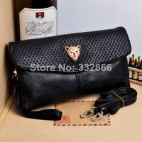 Hot 2014 New Fashion Women's Handbags Punk One Shoulder Handbag Cross-Body Bag Long Design Mobile Bags Clutch 6 Colors