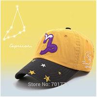 2014 New Fashion Cotton Spring Summer Sport Sun-shading Snapback Hat for Womens Girls Adjustable CAPRICORN Zodiac Baseball Cap