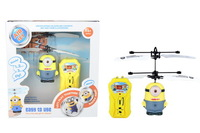 Hot sales despicable me 2 minion toys / rc helicopter / Children's gifts remote control aircraft, free shipping 10pcs