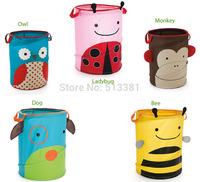 Free Ship 20pcs Animal foldable Children toys storage barrel laundry basket sundries storage cloth storage boxes storage barrels