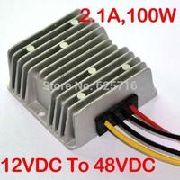 DC DC Converter 12V to 48V, 12VDC step up to 48VDC, 2.1A max, 100W, Power converter