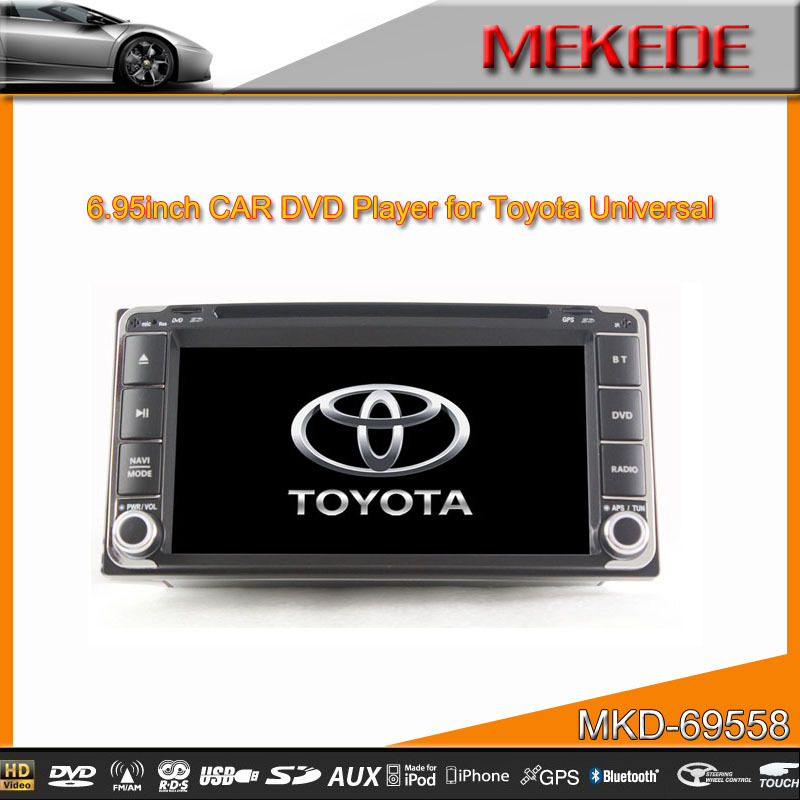 digital Touch Screen 2 Din Toyota Universal Car receiver Player with GPS Navigation USB 3G Ipod+support Russian menu &language(China (Mainland))