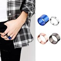 New 2014 hot sale 4 pcs/lot vintage punk silver rose gold black blue color band mid finger knuckle lord of rings set men