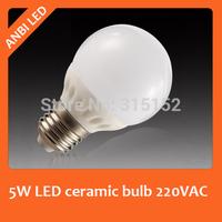 Hot sale bright 5W LED ceramic bulb e27 ball ceramic lamp full eye eco-friendly screw-mount bulb,500lm