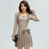 2014 new women clothing autumn and winter dress ladies dress