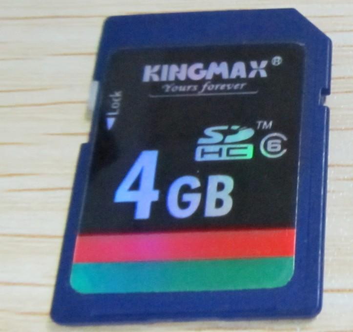 Kingmax 4GB Class6 SDHC Card 4 GB C6 sd card for GPS Tablet Camera use(China (Mainland))