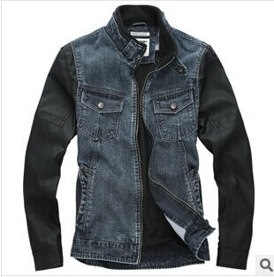2014 new fashion mens Casual denim jacket Autumn & Winter Man Jacket street motorcycle Jeans jacket Brand Zipper Outerwear Coat(China (Mainland))