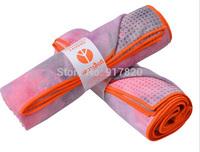 Yogitoes skidless yoga towel 24 x 68 GROOVY PINK PURPLE TIE DYE NEW