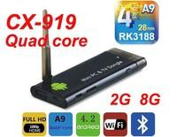 CX919 Android 4.2 Mini PC Box TV Stick Quad Core 2G/8GB Bluetooth 1080P with External WiFi Antenna