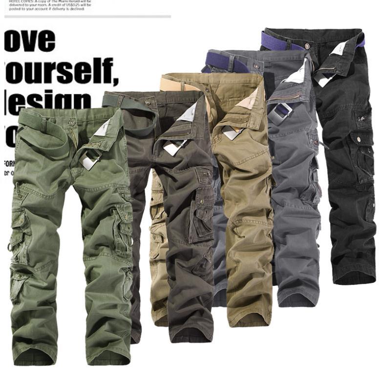 Versandkostenfrei 2014 neuankömmling outdoor casual herren cargo-hose armee cargohosen männer overalls mehr als eine Tasche