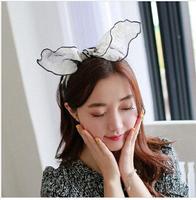 5pcs/lot Chiffon lace rabbit ear headband for women Special hair accessories spring 2015 Good quality hair ornament wrap hair