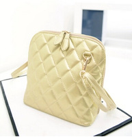 Fashion diamond lattice shell package bag lady one shoulder bucket oblique satchel mini across packets tide female bag