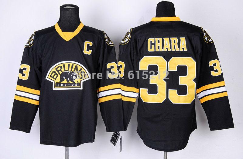 Shippingretail remise gratuit pas cher haute qualité Hockey sur glace maillots Bruins de Boston de Jersey # 33 Zdeno Chara jersey, Mélanger l'ordre(China (Mainland))
