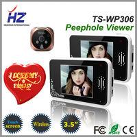 """The newest 2.4GHz 3.5"""" wireless video doorphone door viewer,1 peephole camera with 2 indoor wireless monitor"""