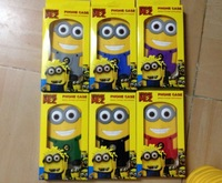 Best selling Despicable Me 3D minion silicone for iphone 5 5S  cases cell phone cartoon cases covers to iphone5 free shipping