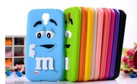 For galaxy s3 case soft rubber cartoon MM chocolate candy cell phone case cover defender to samsung i9300