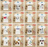 Free Shipping new women's spring and summer short cotton printed T-shirt Slim primer shirt  F19