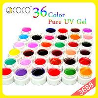 Gel nails products  36 pure color uv gel gd coco unhas de gel   #3688W