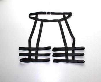 Сексуальный обычный черный унисекс бедра три ремень ног подвязки ремень клетка жгут ...